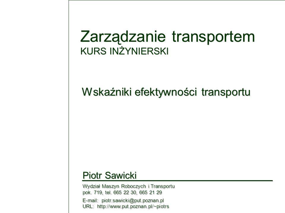 Zarządzanie transportem KURS INŻYNIERSKI