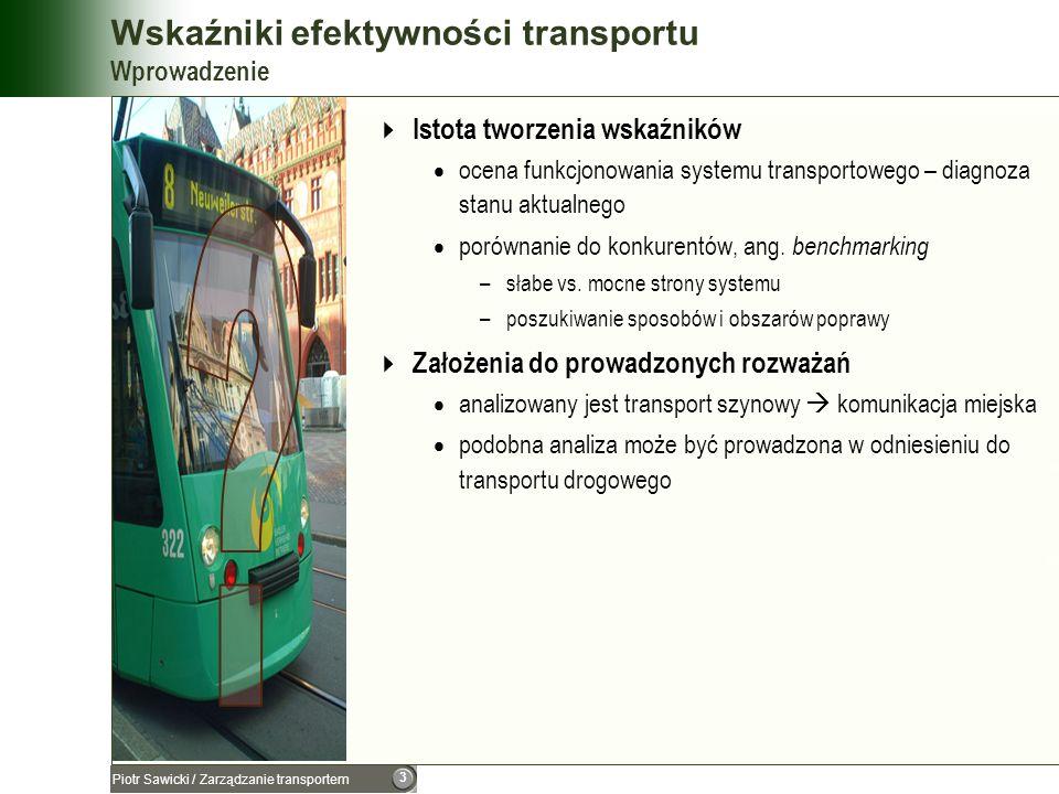 Wskaźniki efektywności transportu Wprowadzenie