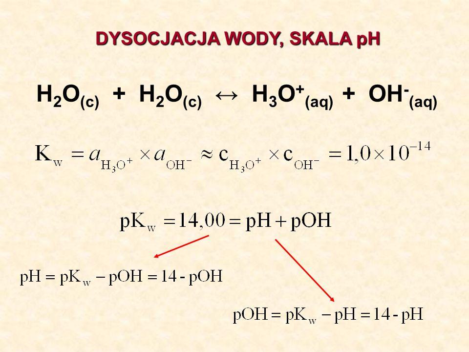 H2O(c) + H2O(c) ↔ H3O+(aq) + OH-(aq)