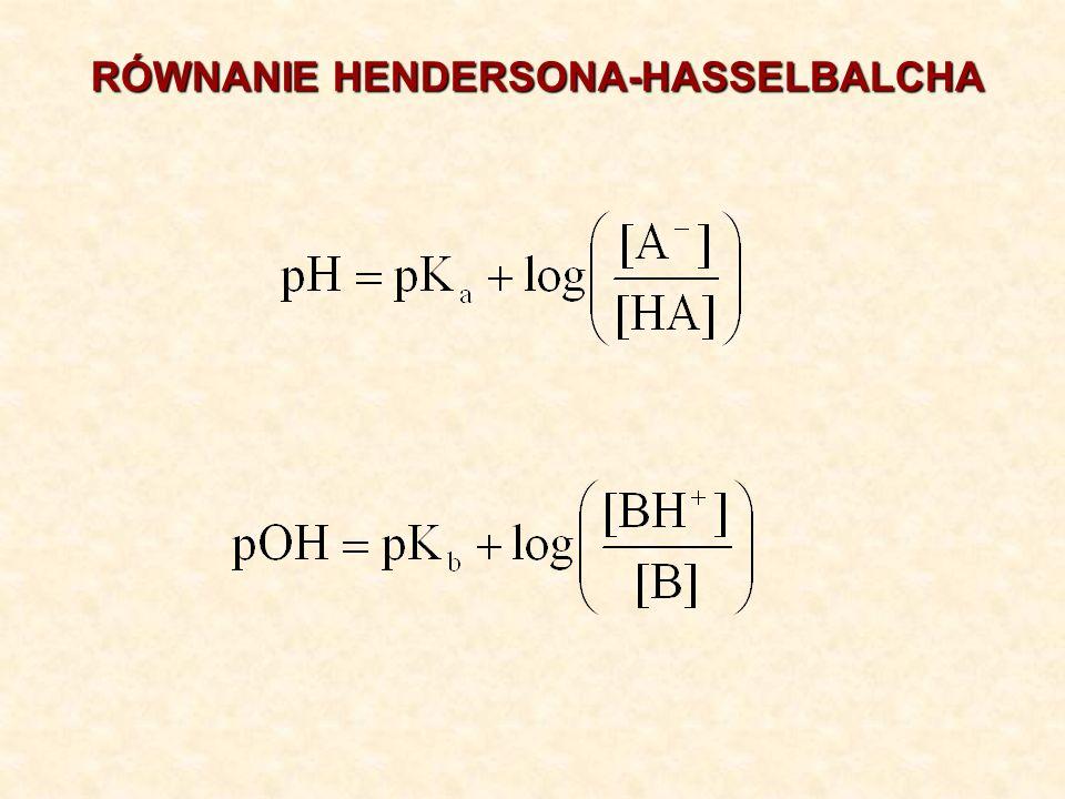 RÓWNANIE HENDERSONA-HASSELBALCHA