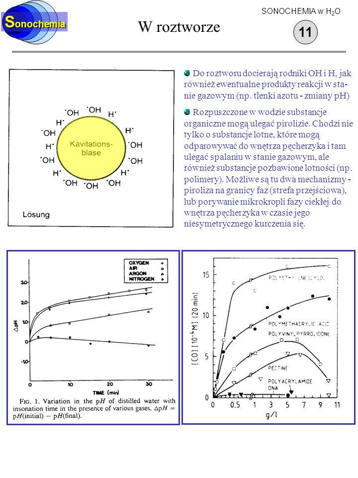 W roztworze Sonochemia 11