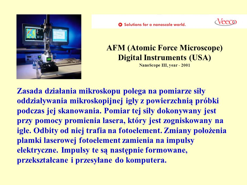 AFM (Atomic Force Microscope) Digital Instruments (USA)