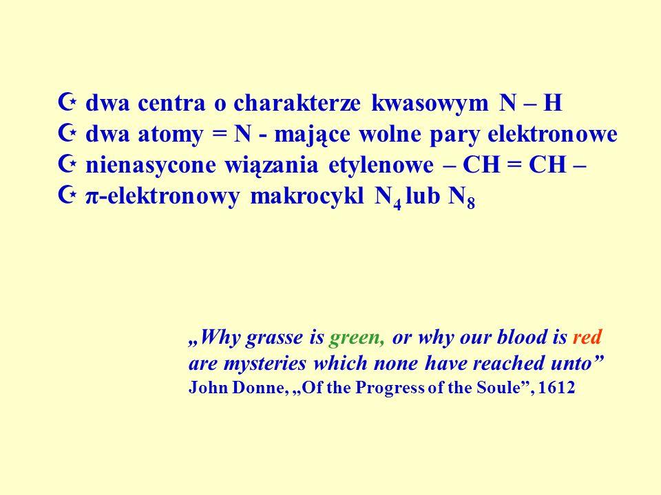  dwa centra o charakterze kwasowym N – H