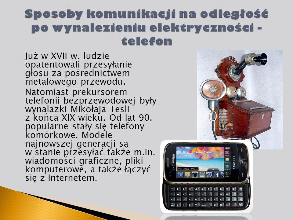 Sposoby komunikacji na odległość po wynalezieniu elektryczności - telefon