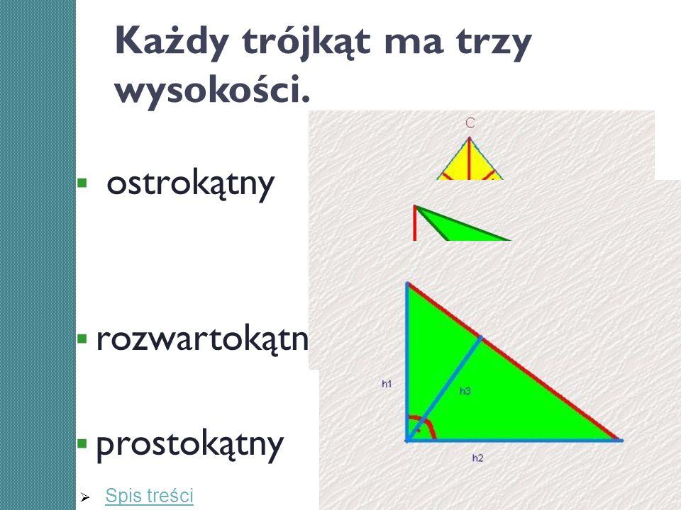 Każdy trójkąt ma trzy wysokości.