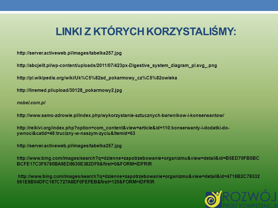 Linki z których korzystaliśmy: