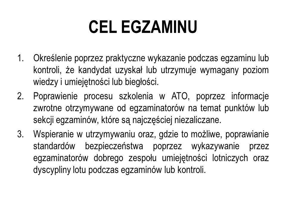 CEL EGZAMINU