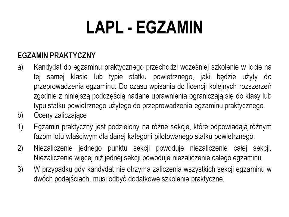 LAPL - EGZAMIN EGZAMIN PRAKTYCZNY