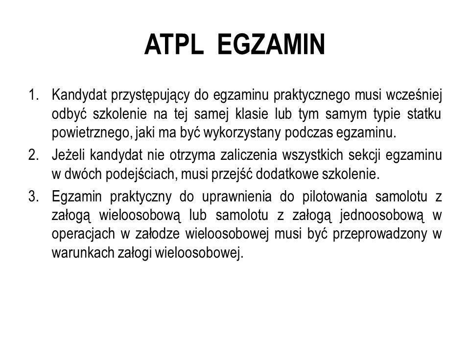 ATPL EGZAMIN