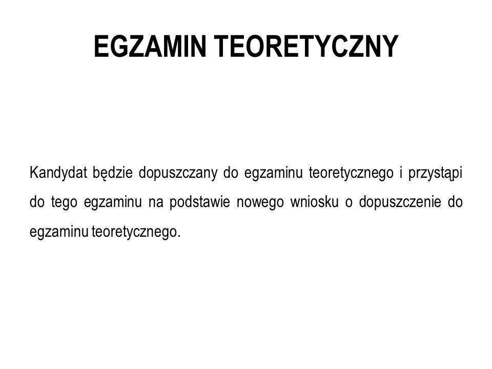 EGZAMIN TEORETYCZNY