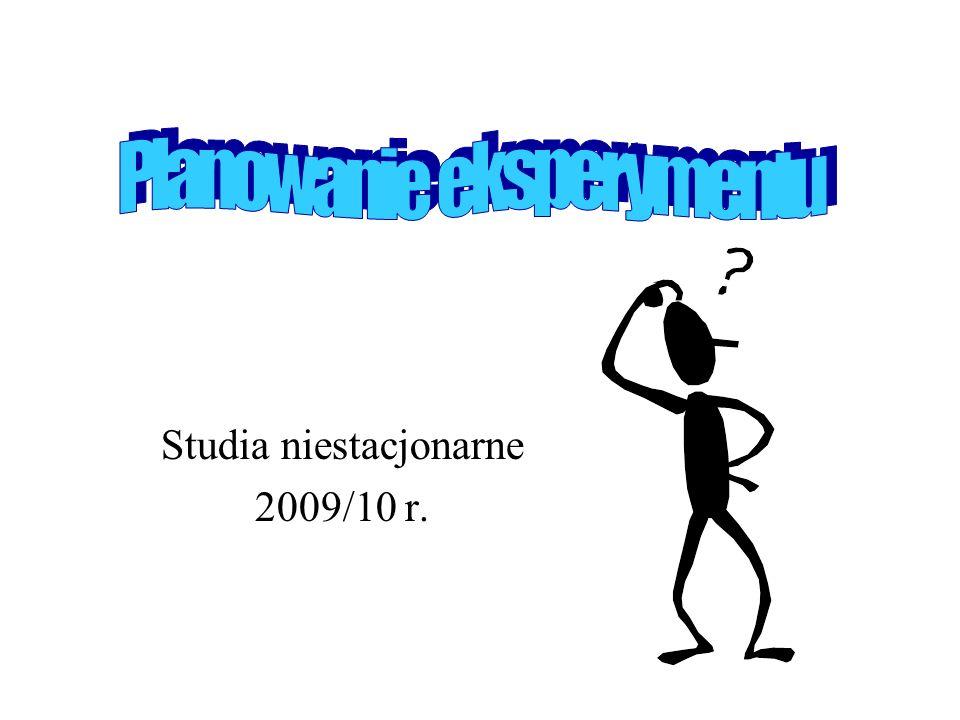 Studia niestacjonarne 2009/10 r.