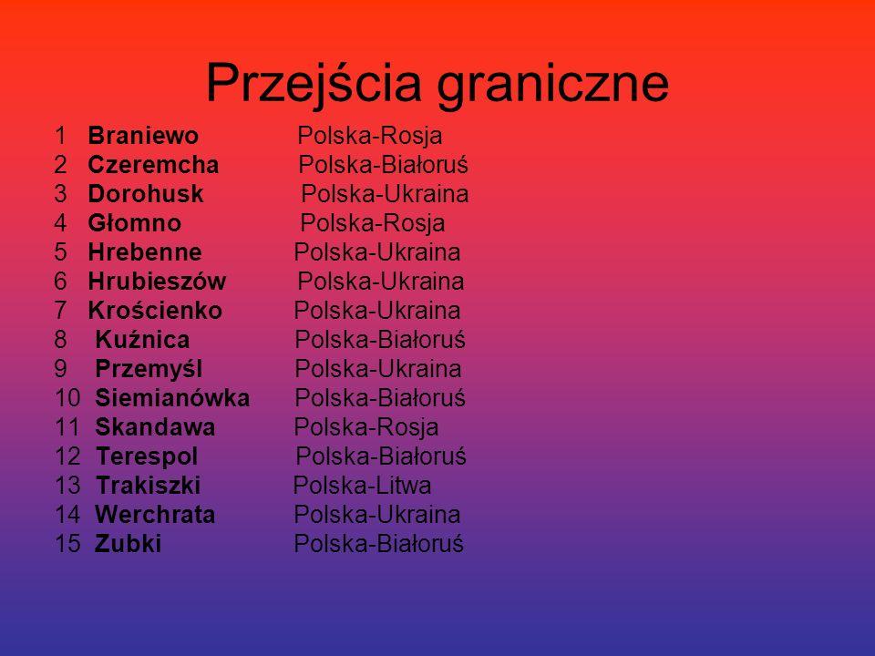 Przejścia graniczne 1 Braniewo Polska-Rosja
