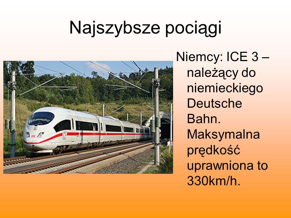 Najszybsze pociągiNiemcy: ICE 3 – należący do niemieckiego Deutsche Bahn.
