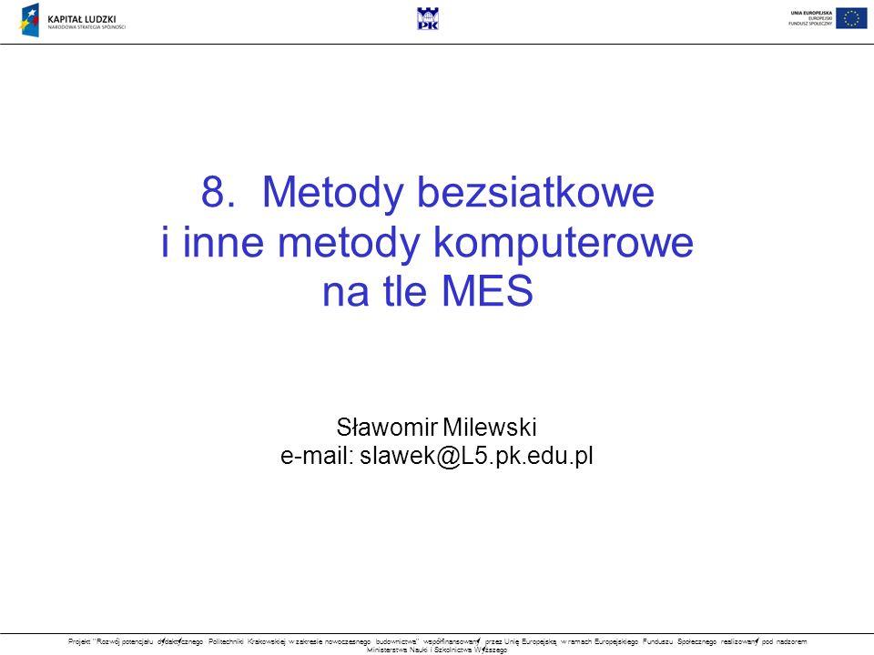 i inne metody komputerowe na tle MES