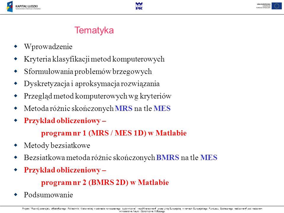 Tematyka Wprowadzenie Kryteria klasyfikacji metod komputerowych