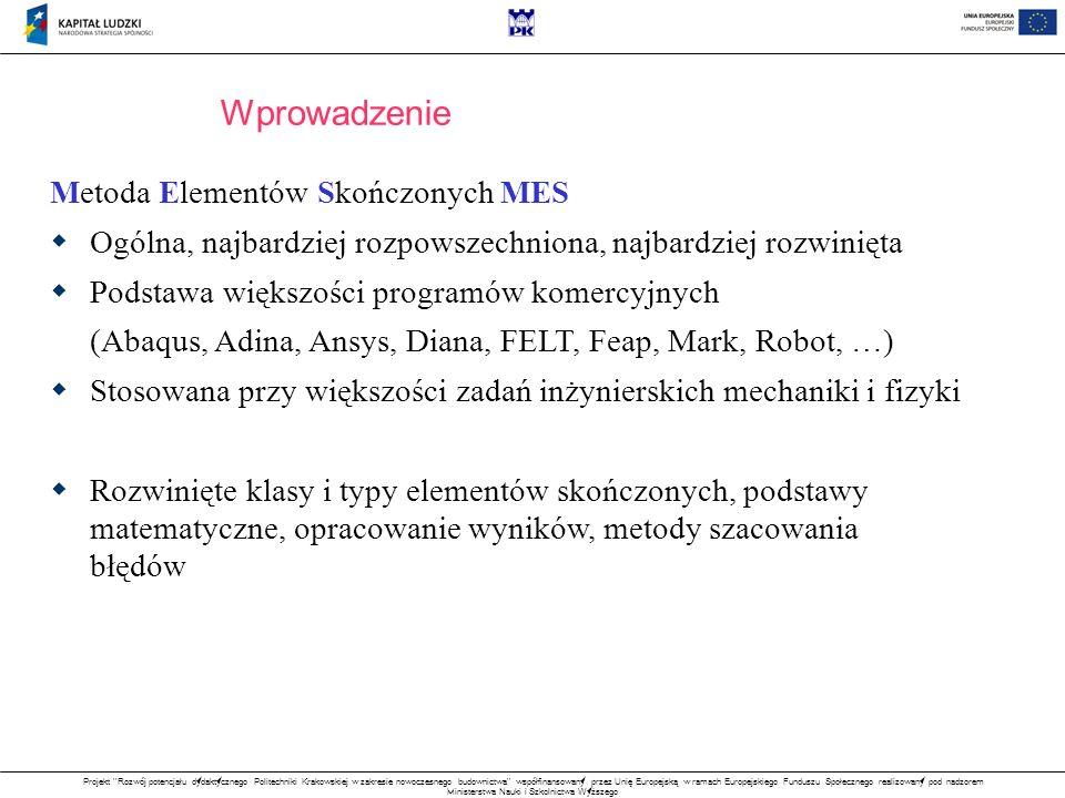 Wprowadzenie Metoda Elementów Skończonych MES