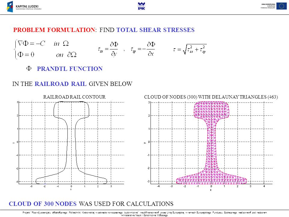 PROBLEM FORMULATION: FIND TOTAL SHEAR STRESSES