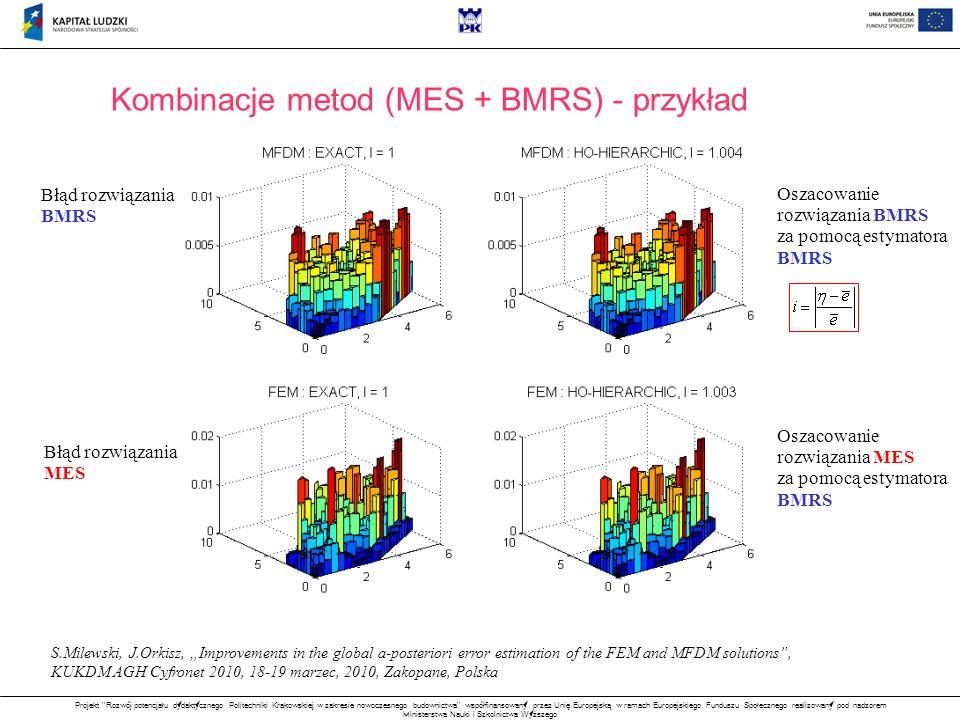 Kombinacje metod (MES + BMRS) - przykład