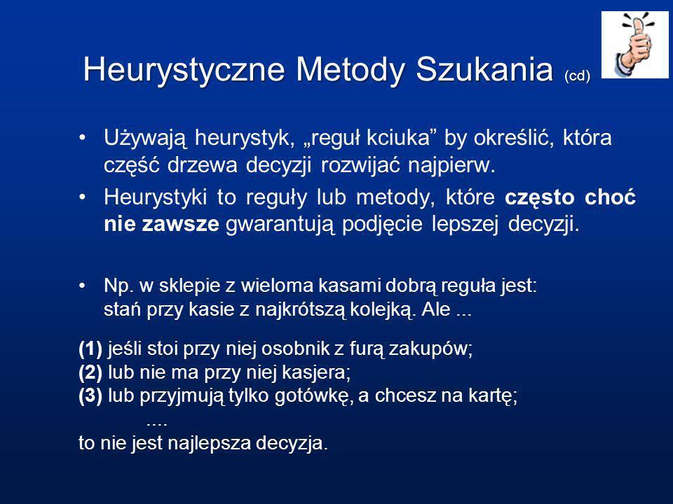 Heurystyczne Metody Szukania (cd)