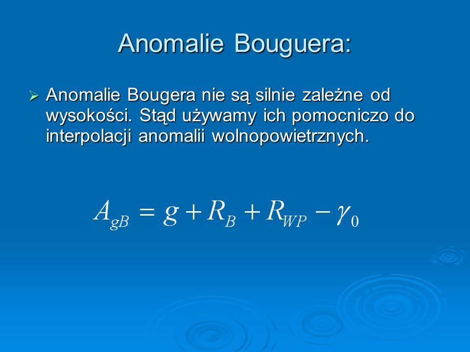 Anomalie Bouguera: Anomalie Bougera nie są silnie zależne od wysokości.