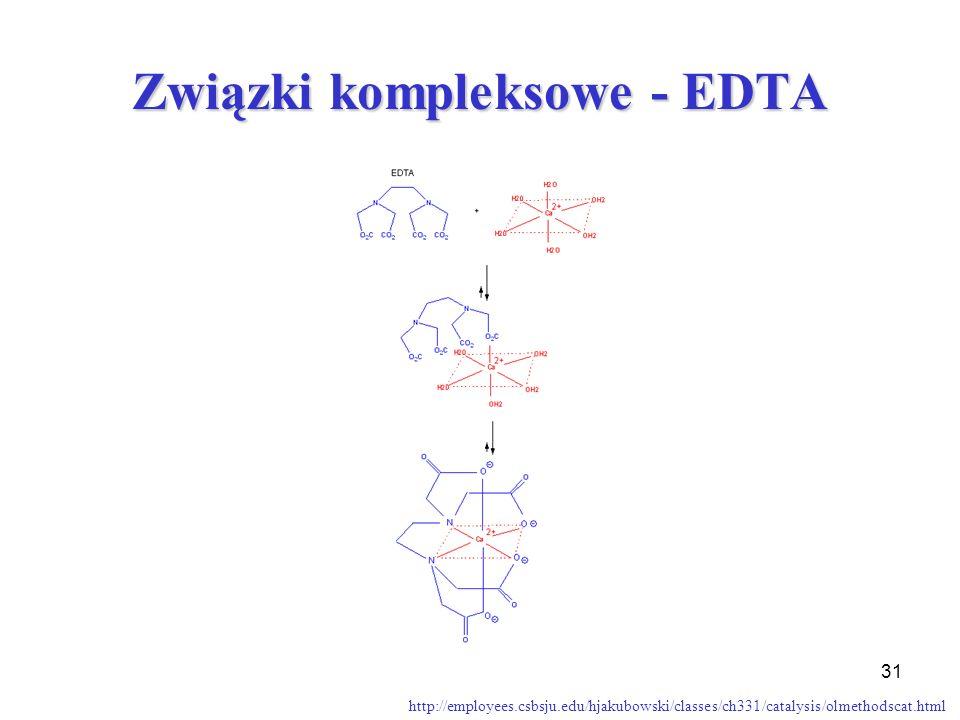 Związki kompleksowe - EDTA