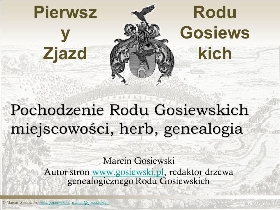 Pochodzenie Rodu Gosiewskich miejscowości, herb, genealogia