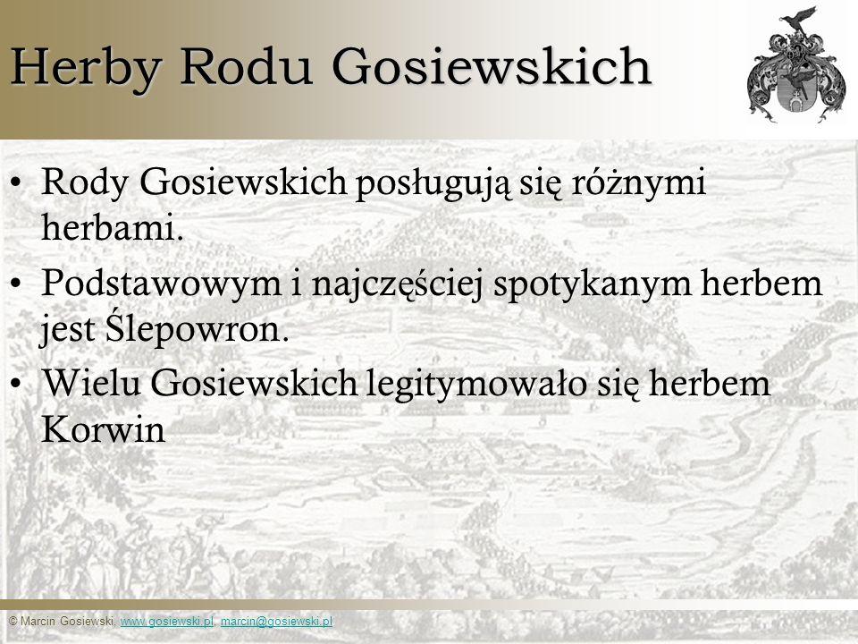 Herby Rodu Gosiewskich