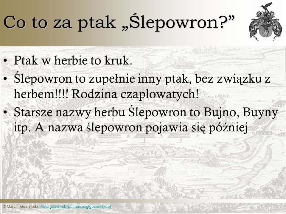 "Co to za ptak ""Ślepowron"