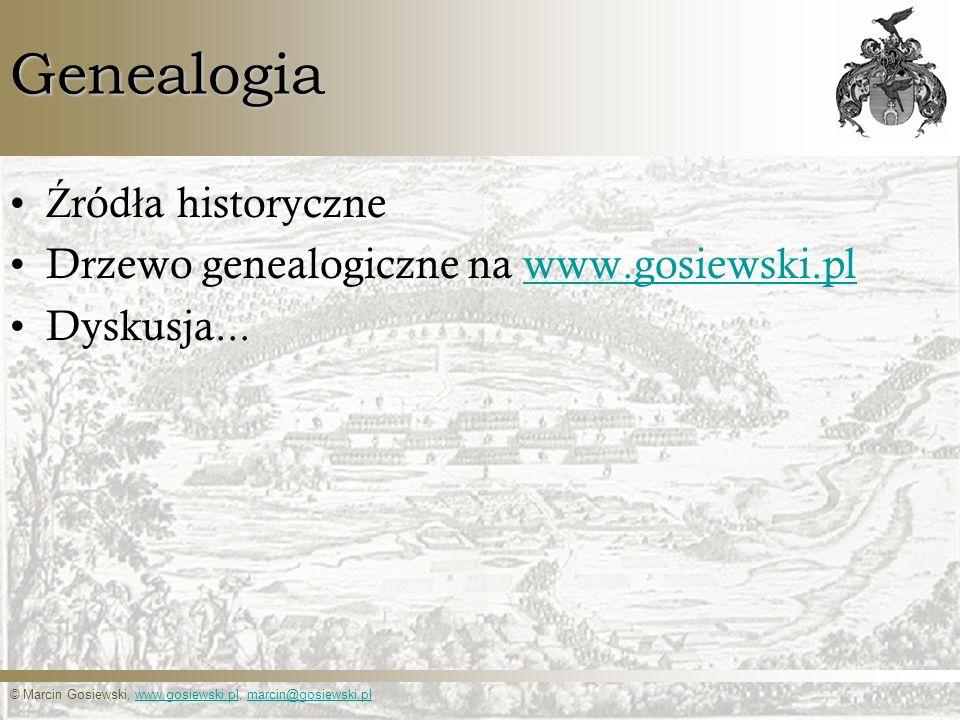 Genealogia Źródła historyczne Drzewo genealogiczne na www.gosiewski.pl