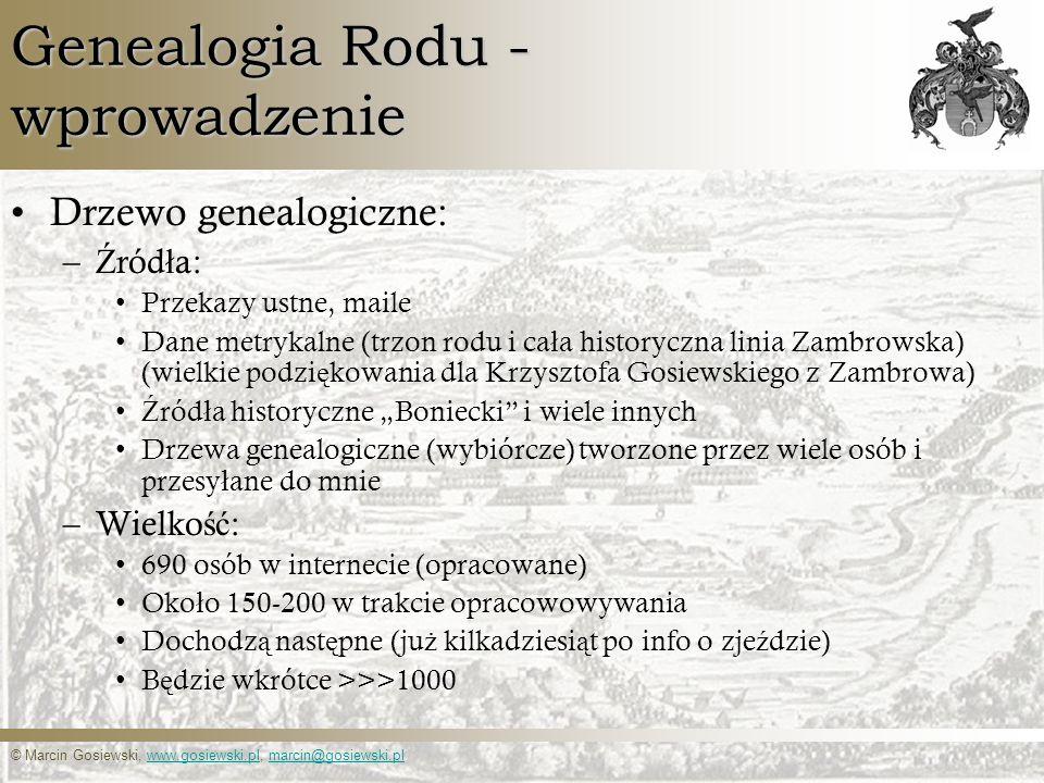 Genealogia Rodu - wprowadzenie