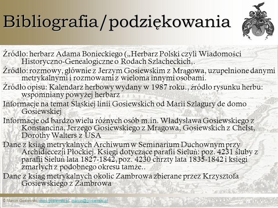 Bibliografia/podziękowania