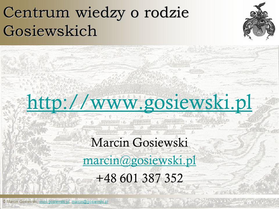 Centrum wiedzy o rodzie Gosiewskich