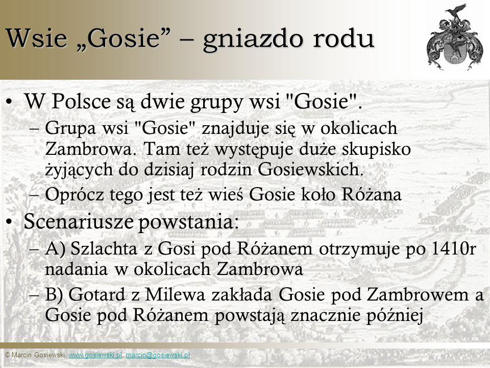 """Wsie """"Gosie – gniazdo rodu"""