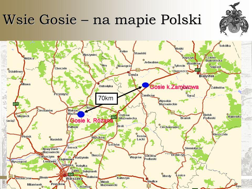Wsie Gosie – na mapie Polski