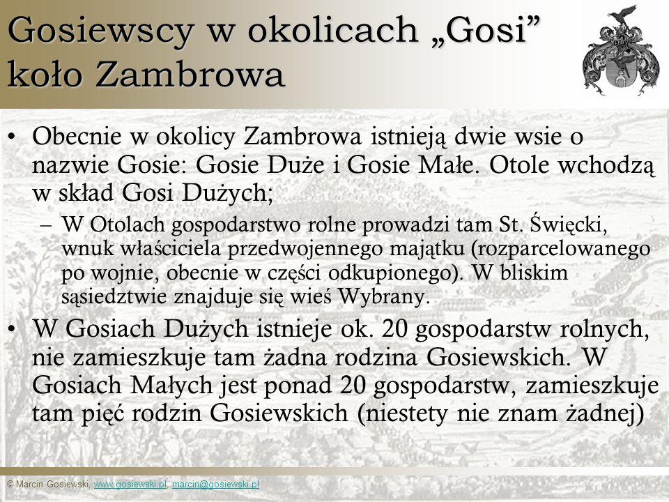 """Gosiewscy w okolicach """"Gosi koło Zambrowa"""