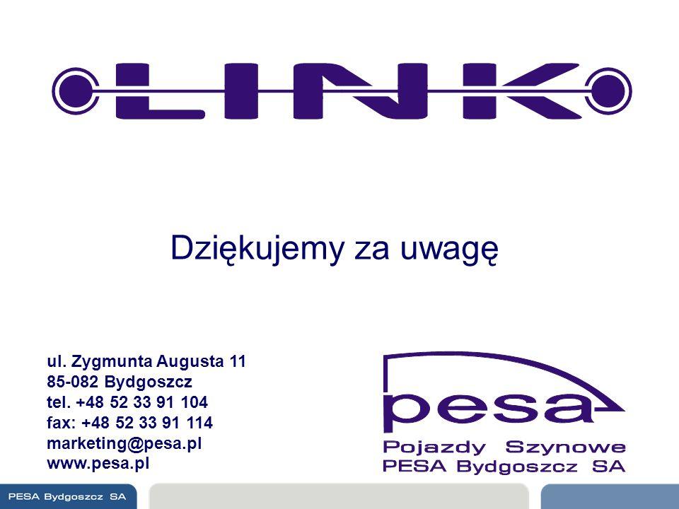 Dziękujemy za uwagę ul. Zygmunta Augusta 11 85-082 Bydgoszcz