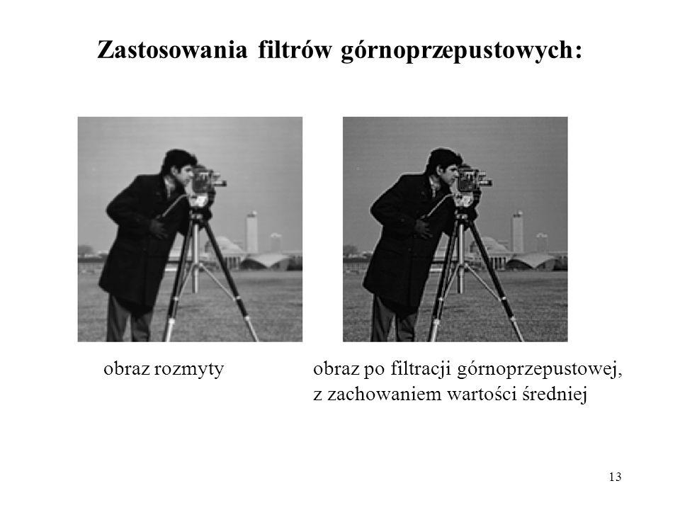 Zastosowania filtrów górnoprzepustowych: