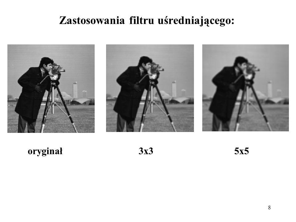 Zastosowania filtru uśredniającego: