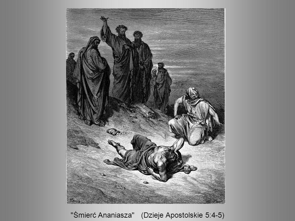 Śmierć Ananiasza (Dzieje Apostolskie 5:4-5)