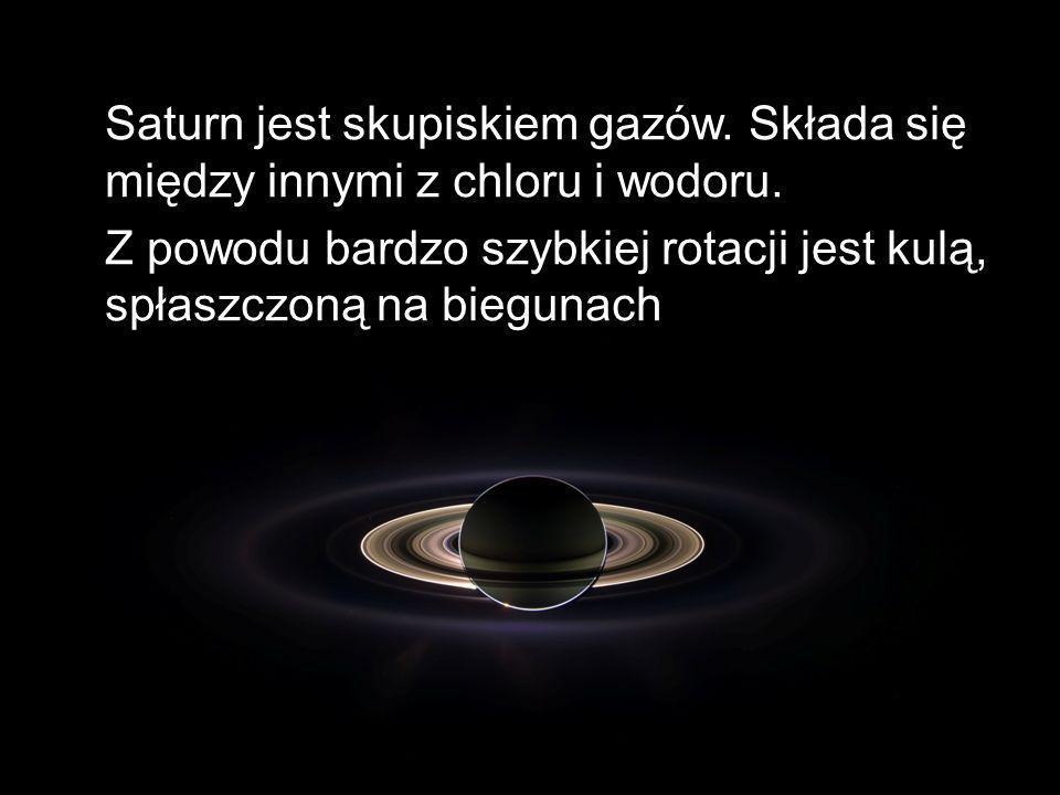 Saturn jest skupiskiem gazów