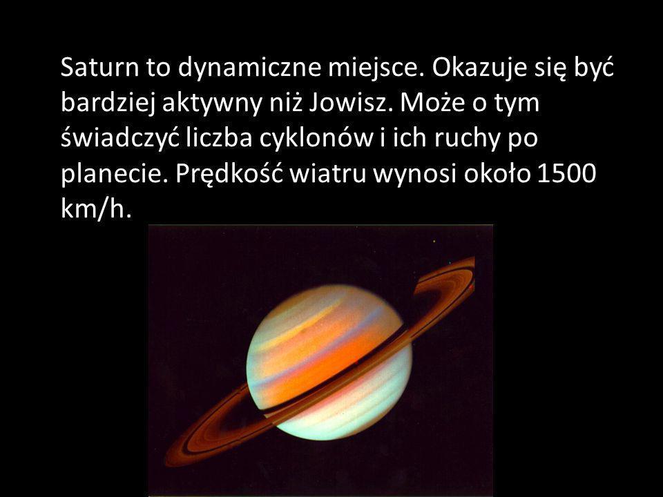 Saturn to dynamiczne miejsce