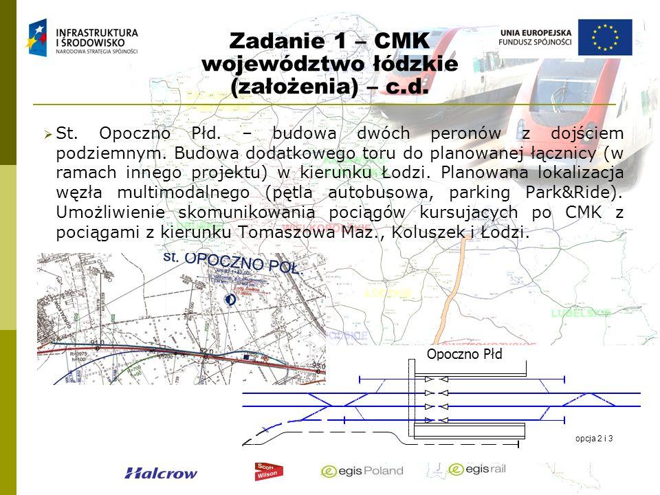 Zadanie 1 – CMK województwo łódzkie (założenia) – c.d.
