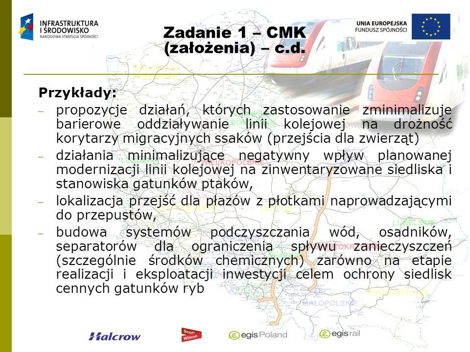 Zadanie 1 – CMK (założenia) – c.d.