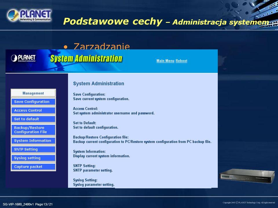 Podstawowe cechy – Administracja systemem