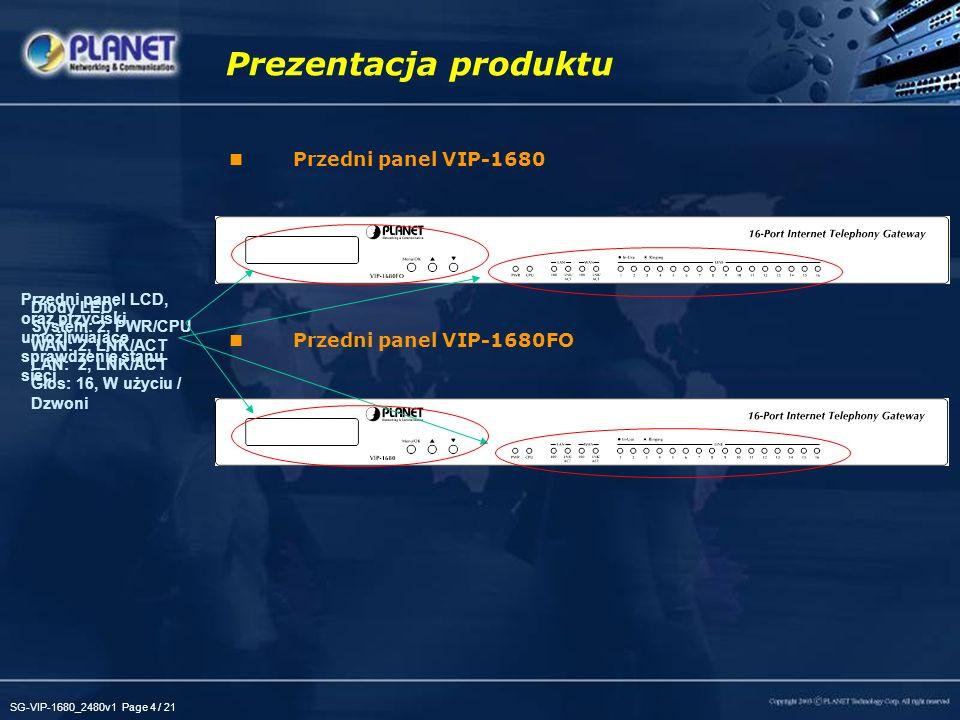 Prezentacja produktu Przedni panel VIP-1680 Przedni panel VIP-1680FO