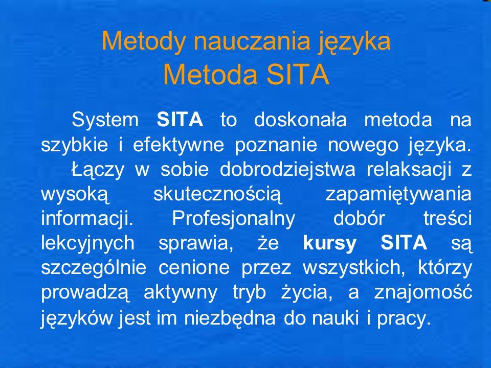 Metody nauczania języka Metoda SITA