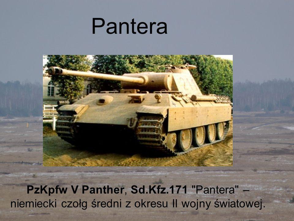 PanteraPzKpfw V Panther, Sd.Kfz.171 Pantera – niemiecki czołg średni z okresu II wojny światowej.