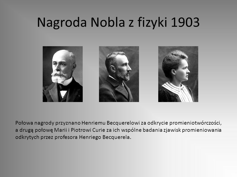Nagroda Nobla z fizyki 1903
