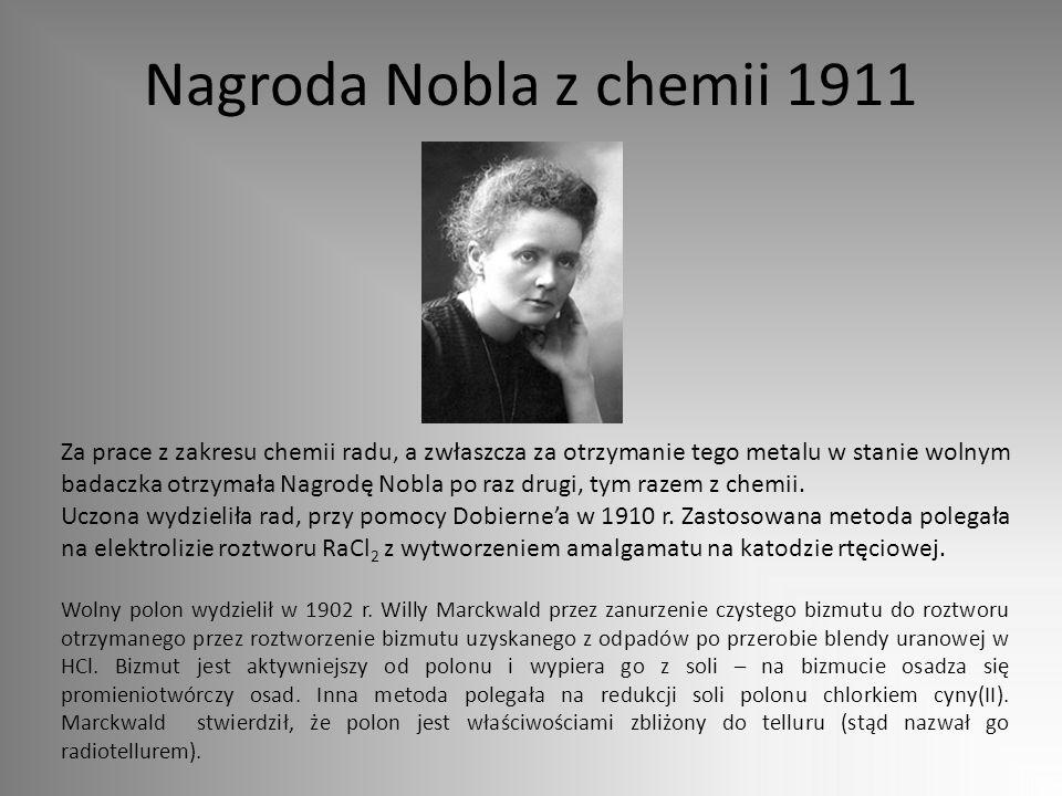Nagroda Nobla z chemii 1911