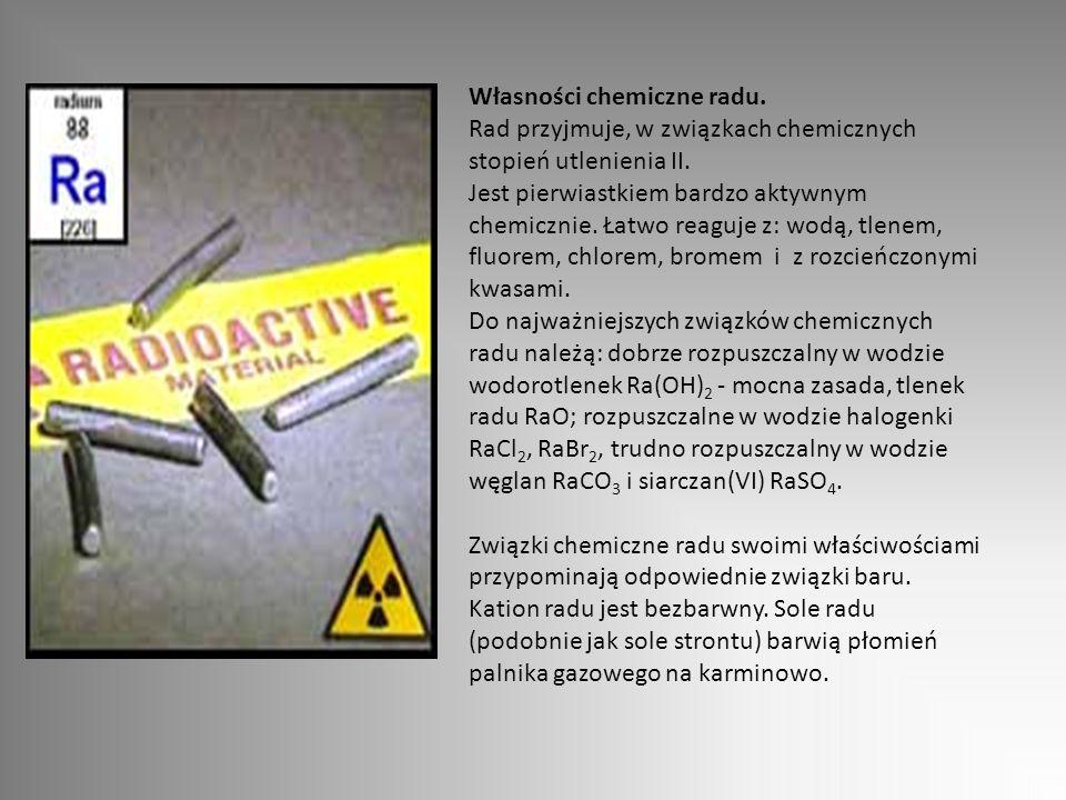 Własności chemiczne radu